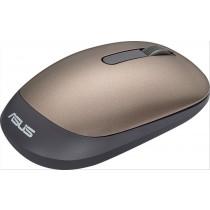 ASUS WT205 RF Wireless Ottico 1200DPI Ambidestro Nero, Oro mouse
