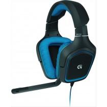 Logitech G430 Stereofonico Padiglione auricolare Nero, Blu cuffia e auricolare