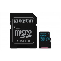 Kingston Technology Canvas Go! 64GB MicroSDXC UHS-I Classe 10 memoria flash