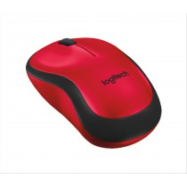Logitech M220 Silent RF Wireless Ottico 1000DPI Ambidestro Nero, Rosso mouse
