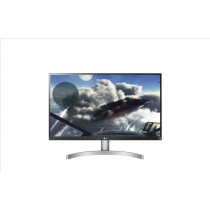 """LG 27UK600-W 27"""" 4K Ultra HD LED Piatto Nero, Argento, Bianco monitor piatto per PC LED display"""