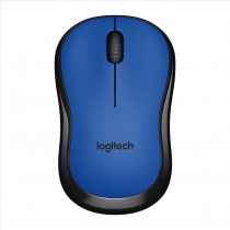 Logitech M220 Silent RF Wireless Ottico 1000DPI Ambidestro Nero, Blu mouse