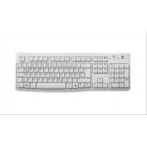 Logitech K120 tastiera USB QWERTZ Tedesco Bianco