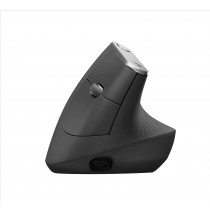 Logitech MX Vertical Advanced Ergonimic mouse Wireless a RF + Bluetooth Ottico 4000 DPI Mano destra